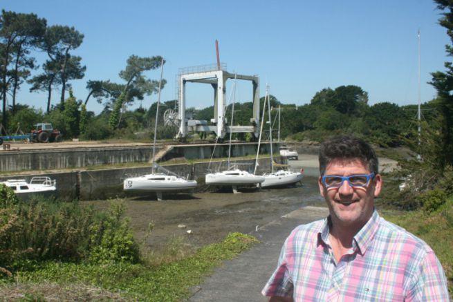 Serge Calvez, fondateur du chantier Marée Haute