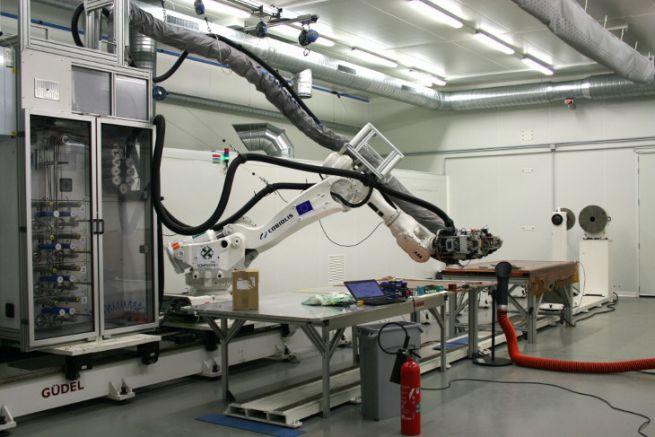 Robot de drapage chez ComposiTIC