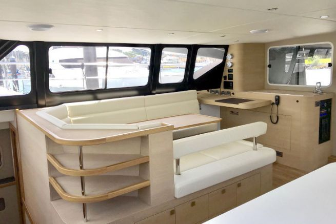 Intérieur de bateau de plaisance réalisé par Naviline