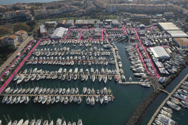 Vue aérienne du salon nautique d'autome du Cap d'Agde