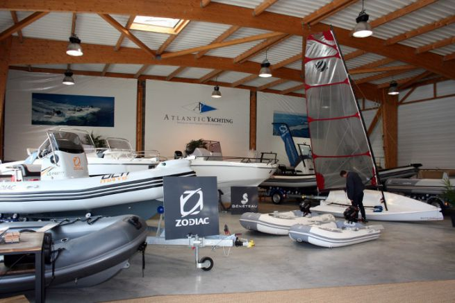 Showroom d'Atlantic Yachting à Lorient