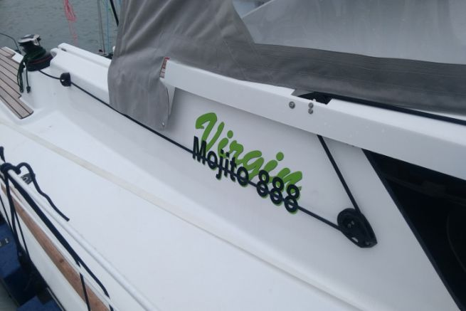 Le voilier Virgin Mojito d'IDB Marine est réalisé à base de lin, de liège et de mousse PET