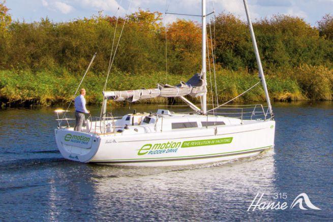Voilier électrique développé par Hanse Yachts
