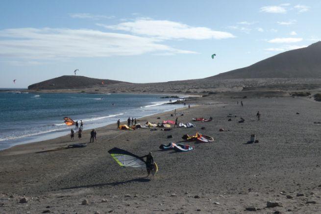 Spot de planche à voile et de kitesurf aux Canaries