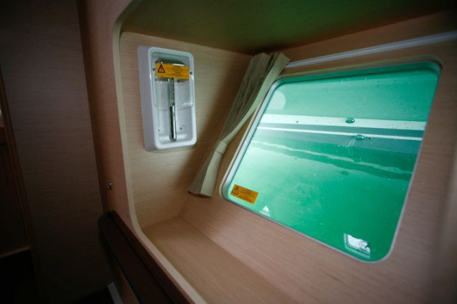Trappe de survie sur un catamaran Lagoon 400