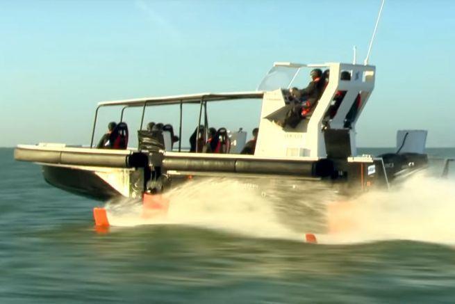 Concept boat à foil développé par le groupe Bénéteau, Seair, DEMS et Noval.