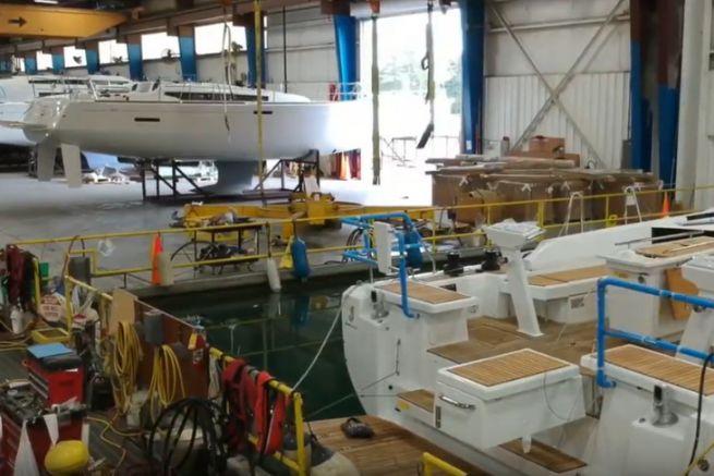 Voiliers Jeanneau construits dans l'usine américaine de Marion