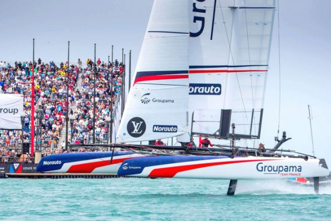 Groupama Team France lors des LVACWS