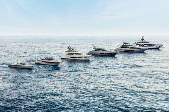 Panorama des bateaux construits par le groupe Ferretti