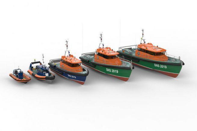 Images de la future flotte de la SNSM proposée par le chantier Couach et Frédéric Neuman