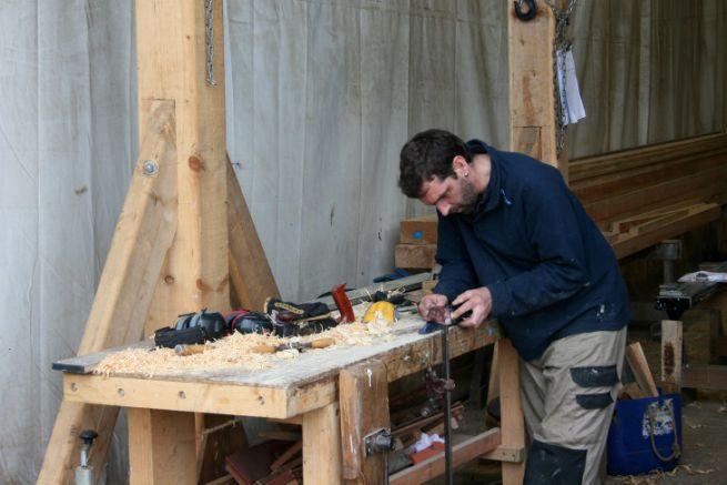 Travail du bois chez Gréement Bois Morbihan