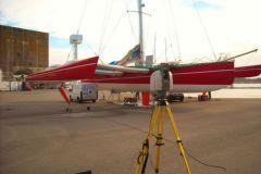 Mesure laser d'un trimaran par NautiSCAN 3D