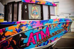 Covering de bateau par ATM Communication