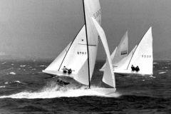 Lowell North, le fondateur de North Sails, en pleine régate de Star