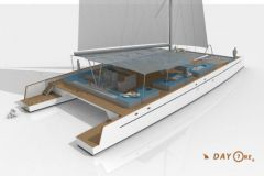 Nouveau catamaran Day One, construit par TechniYachts Pinta