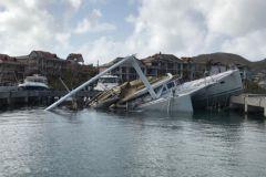 Epave à St-Martin après le passage du cyclone Irma