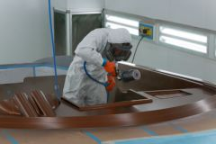 Cabine de peinture du chantier Frauscher