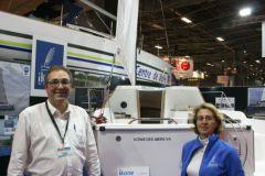 James Simon, repreneur du chantier Ikone-Espace Vag et sa femme