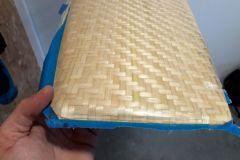 Démoulage d'un safran en fibres de bambou