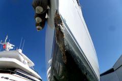 Sinistre sur l'étrave d'un voilier nécessitant le passage d'un expert maritime