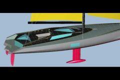 Projet de voilier de charter pour les mers du sud dessiné par l'architecte naval Luc Bouvet