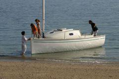 Ikone 6.0, un catboat qui a construit l'image du chantier Espace Vag