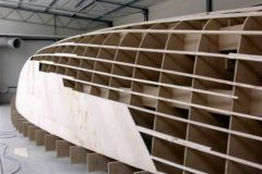 Moule de voilier en fabrication