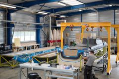 Les ateliers du chantier naval Magma Composites à Questembert