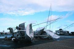 Terre-plein du port de La Rochelle suite à une tempête