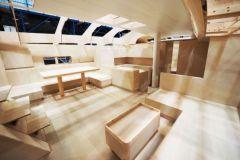 Maquette d'intérieur de voilier au Boatbuilding Technology Center de Nautor's Swan