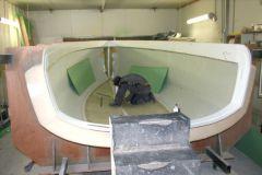 Drapage d'une coque de voilier