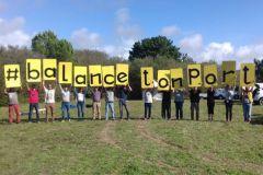 Slogan des militants contre le port de plaisance de Brétignolles sur mer