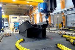 Impression 3D du bateau 3Dirigo dans l'imprimante 3D de grande dimension de l'Université du Maine