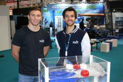 Harold Guillemin (à droite), fondateur de FinX motor et ses propulseurs électriques