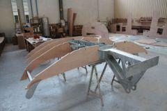 Structure mixte de varangues et fixation de quille sur un voilier RM