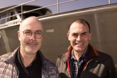 Patrice Passinge et Philippe Brabetz, l'ancien et le nouveau dirigeant de Méta (De gauche à droite)