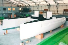 1er catamaran Adventure 50 de Windelo en cours de construction