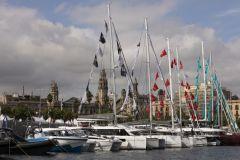 Bateaux exposés à Port Vell pour le Salon Nautico de Barcelona