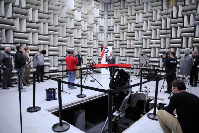 Centre d'essai acoustique et vibratoire des moteurs marins Mercury