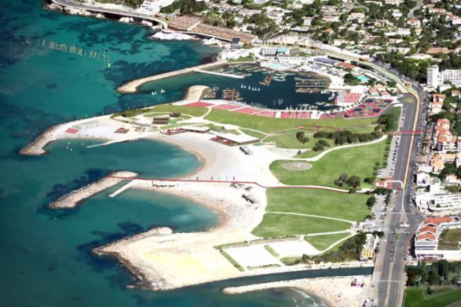 Marina olympique du Roucas Blanc à Marseille pour les JO 2024