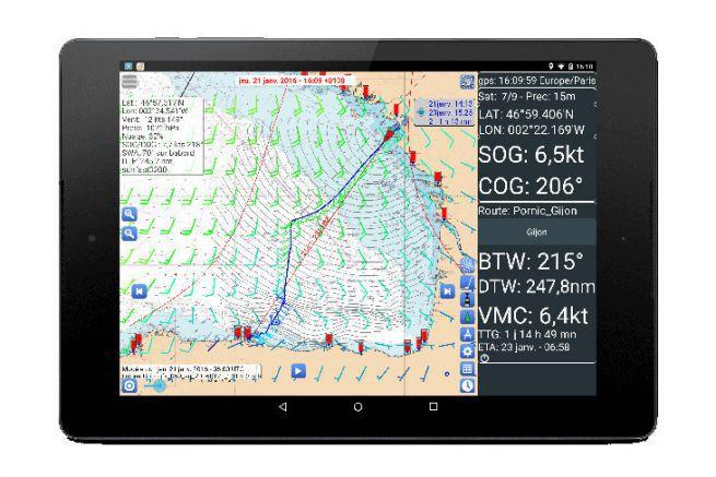 L'application mobile de routage SailGrib