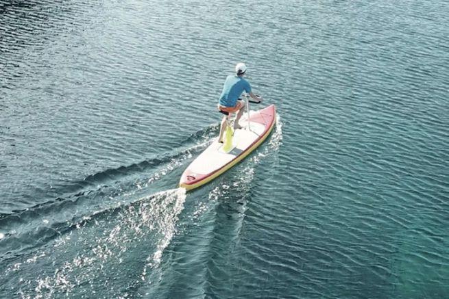 Le Rivike, le premier paddle bike gonflable