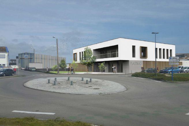 Image du futur siège de Plastimo à Lorient
