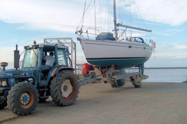 Sortie d'eau au port à sec Pierre à l'oeil à Paimboeuf