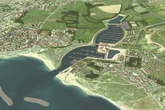 Projet de port de plaisance de Brétignolles-sur-Mer dans la zone naturelle sensible du Marais Girard