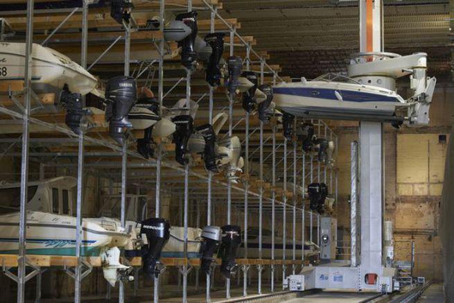 Exemple de port à sec automatisé à Lorient