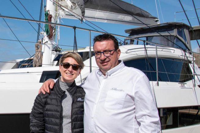 Anna Nowotarska, nouvelle directrice commerciale export avec Gilles Wagner, PDG de Privilège Marine