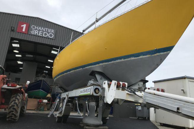 Chantier du Redo, entretien de bateaux au Crouesty