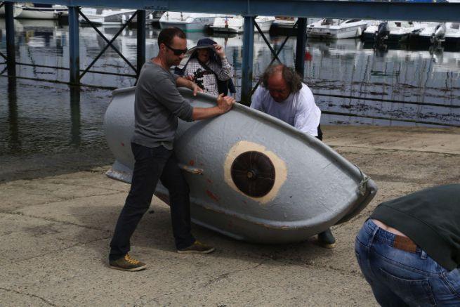 Démonstration d'utilisation du prototype d'obturateur de voie d'eau Paradeep