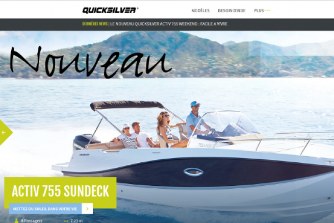 Nouveau site internet Quicksilver